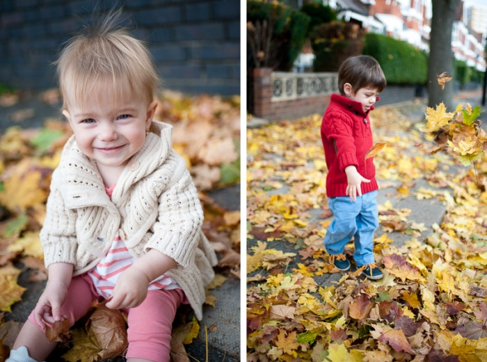 Autumnal children portraits in Alexandra Palace