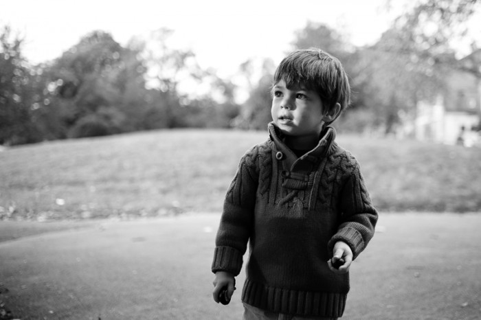 Portrait of boy in Alexandra Palace