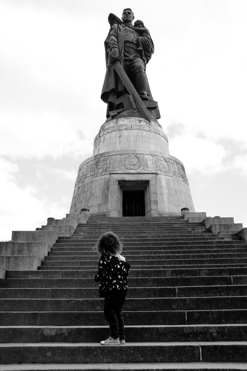 Boy at Treptower Park Berlin