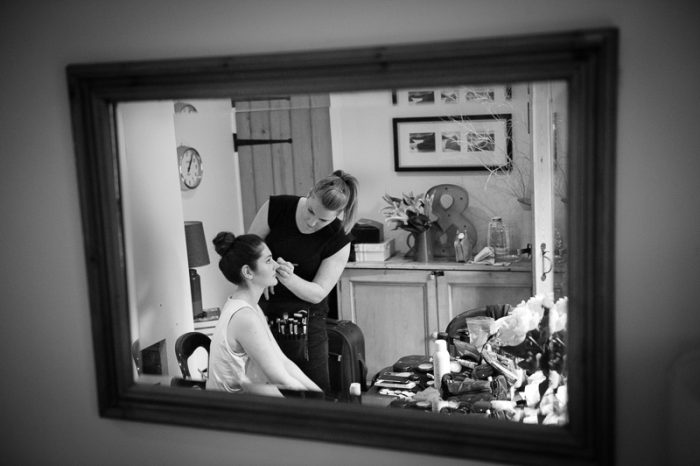 Reportage photograph of bridal preparations