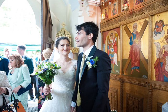 Greek Orthodox Wedding ceremony at Englefield Green