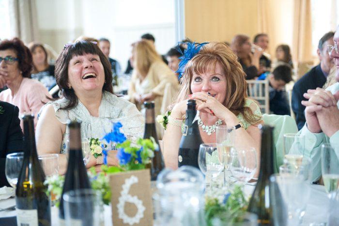 Mums enjoying the speeches at Lyne Village Hall