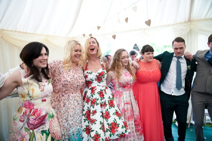 Greek dancing lesson at wedding in Surrey