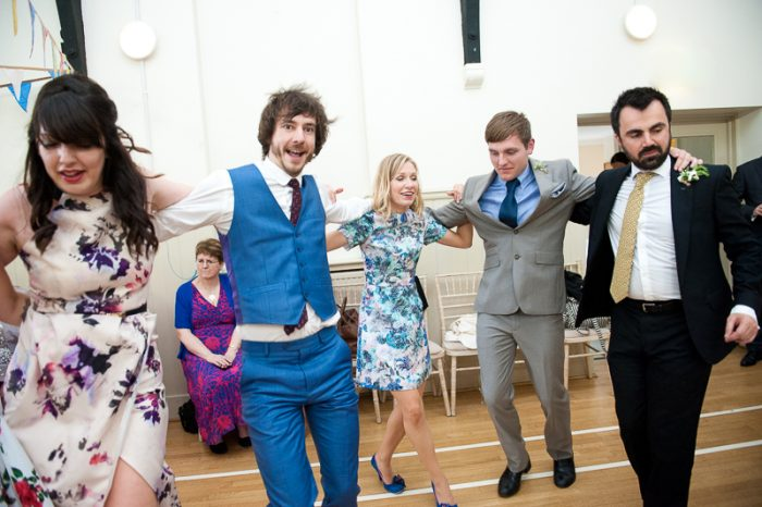 Greek dancing at Lyne Village Hall