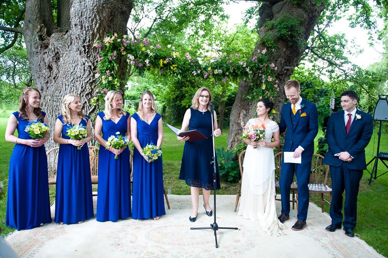 Humanist wedding at Ridge Farm studios