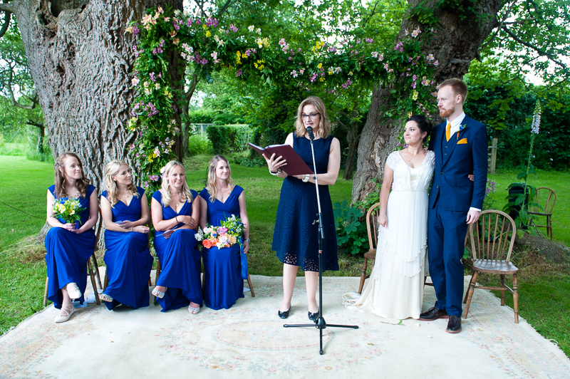 Humanist wedding ceremony at Ridge Farm