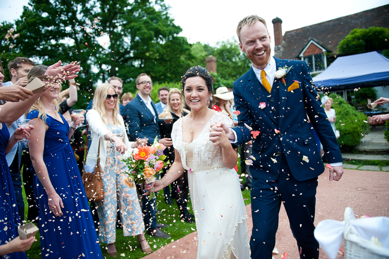 Humanist wedding confetti shot