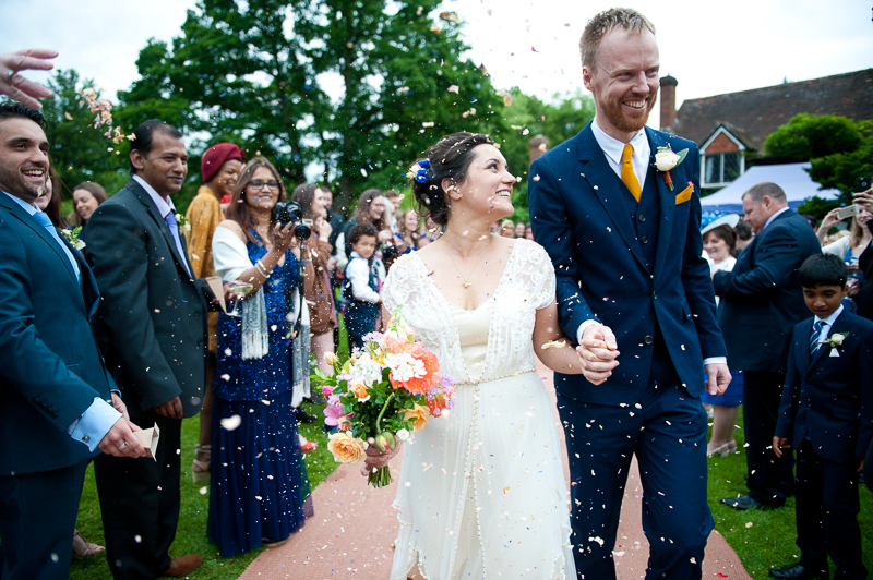 Confetti at Ridge Farm wedding