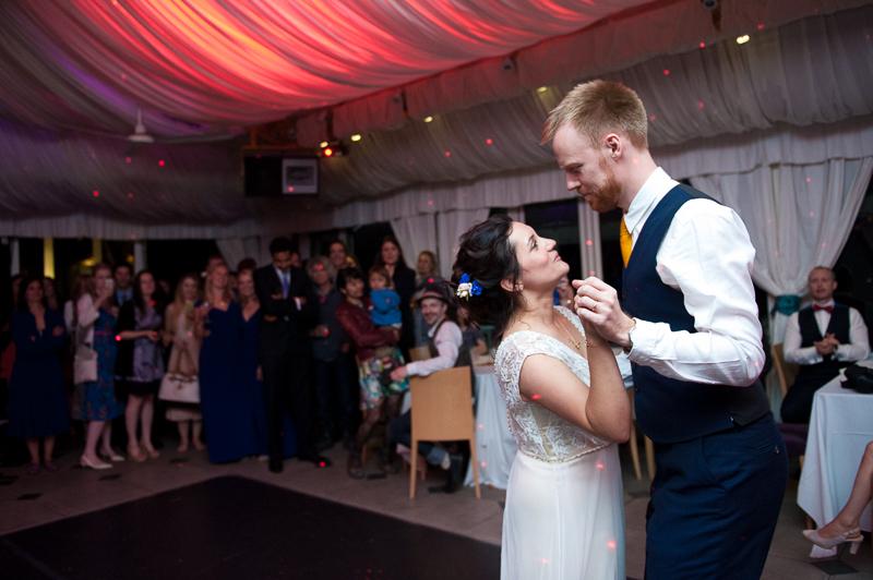 First dance at Ridge Farm wedding
