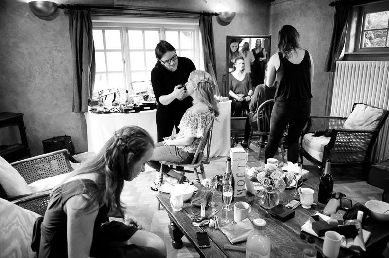 Bridal preparations at Ridge Farm