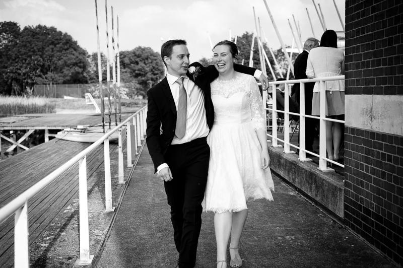 Couple portrait at West Reservoir Centre in Stoke Newington