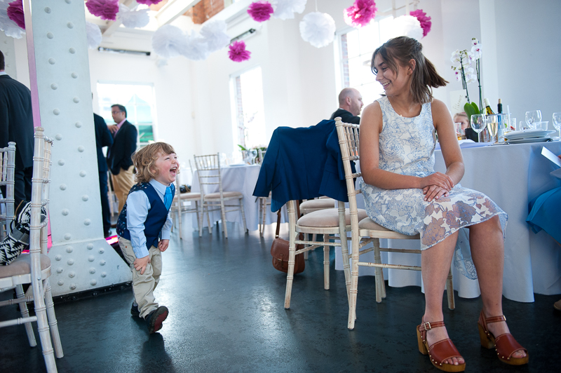 Guests having fun at West Reservoir Centre wedding
