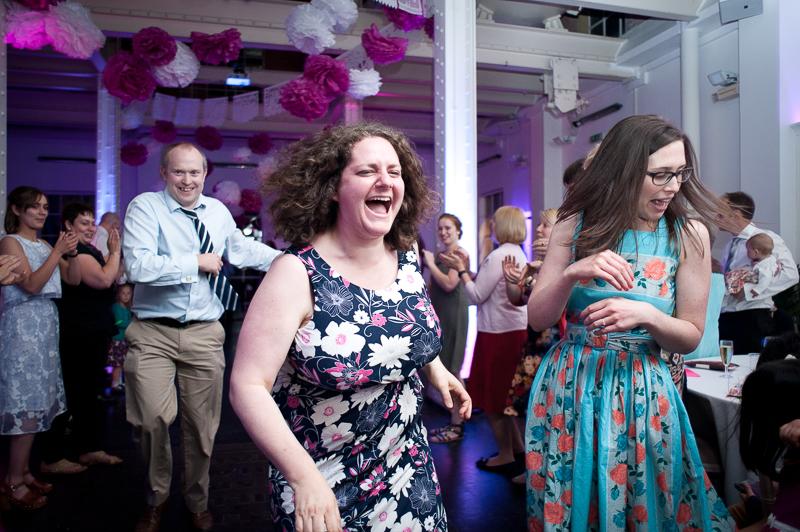 Ceilidh dancing at wedding reception