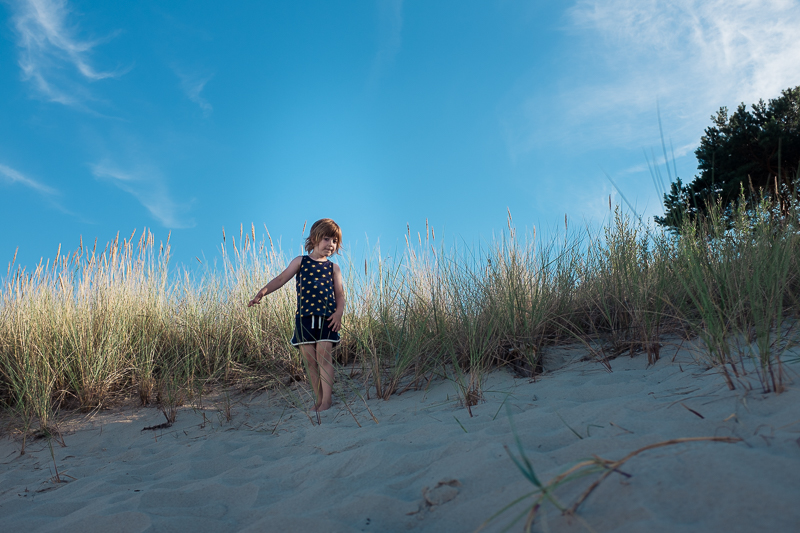 Boy on the dunes