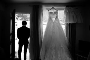 Father of the bride and wedding dress