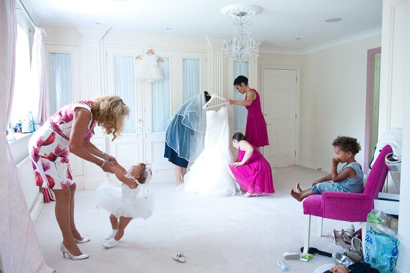 Reportage wedding photo of bridal preparaions