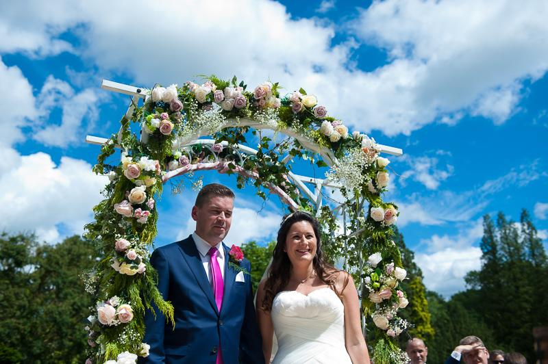 Outdoor wedding ceremony at Ridge Farm