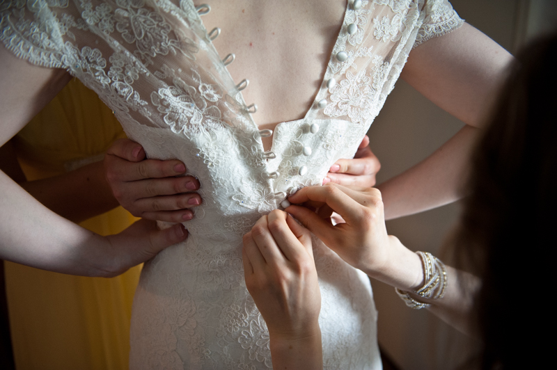 Bridal preparations wedding photography coverage