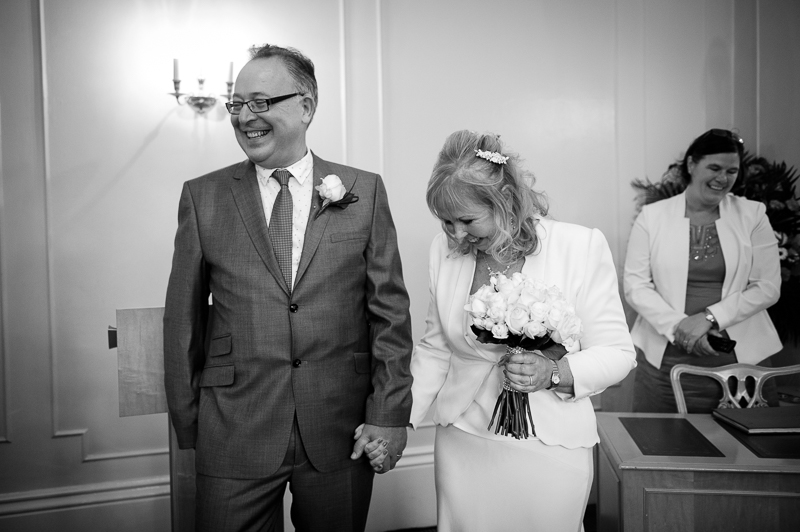 Wedding ceremony at Enfield Registry Office