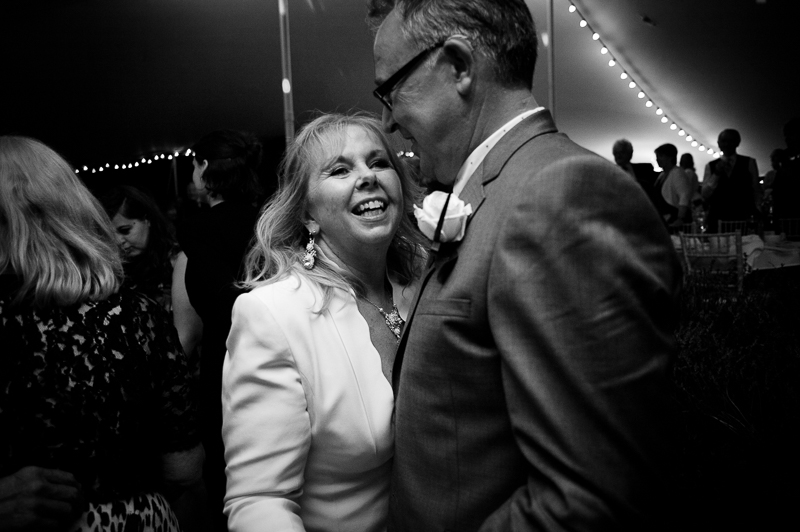 Mature bride and groom dancing the first dance