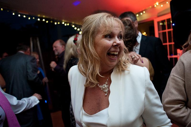 Mature bride on the dancefloor