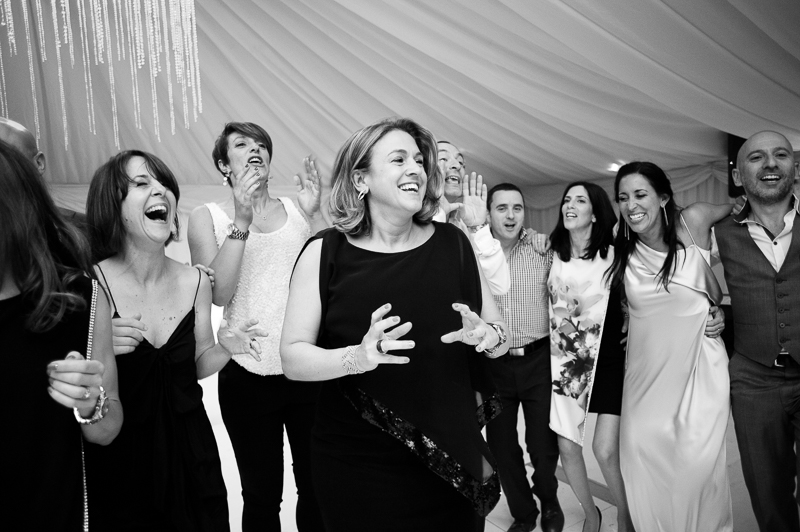 Guests on the dance floor at Jewish wedding in Hertfordshire