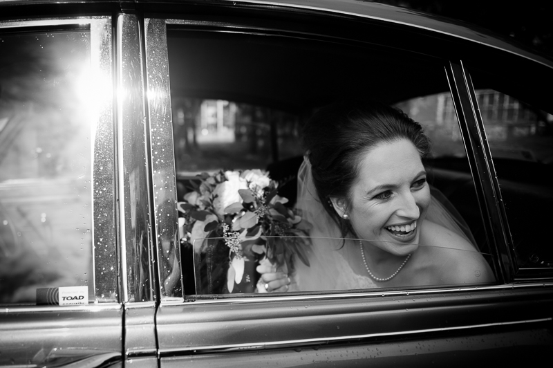 Bride arriving at church in Uxbridge