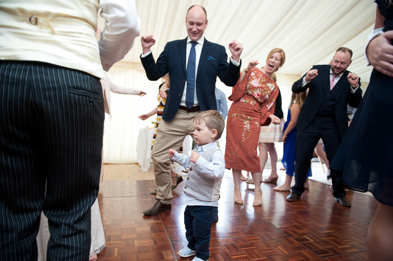 Boy on dance floor at Ham House wedding