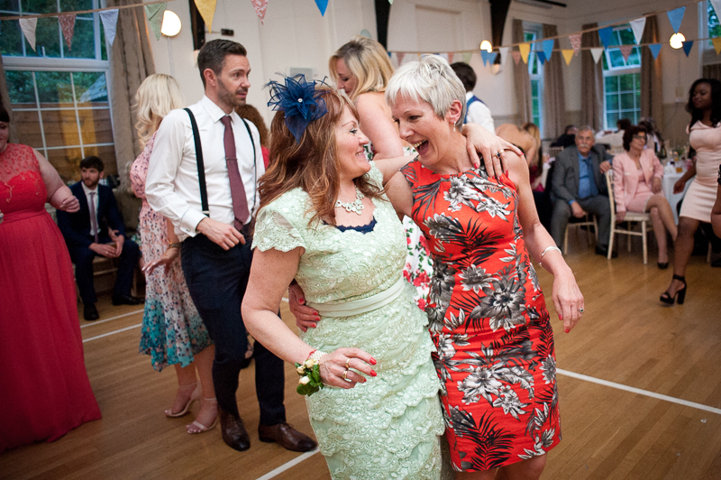 Mother of bride on dance floor at Village Hall wedding