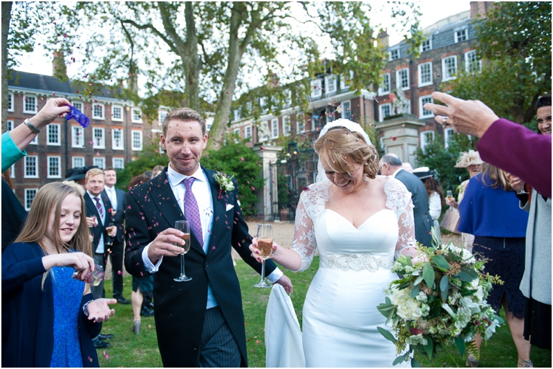 Confetti at Gray's Inn wedding, Confetti at Grays Inn wedding, Annelie Eddie Photography