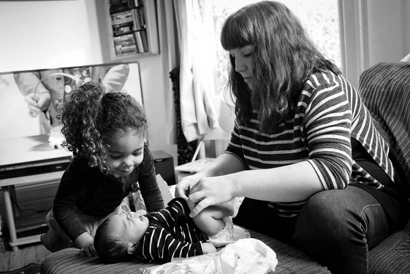 Documentary family photography in Bounds Green
