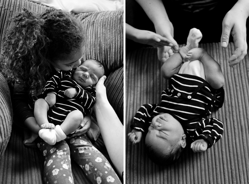 Family Photography Bounds Green showing newborn and sister