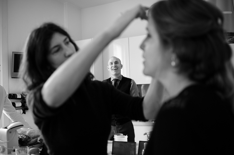 Bridal preparations in Marylebone