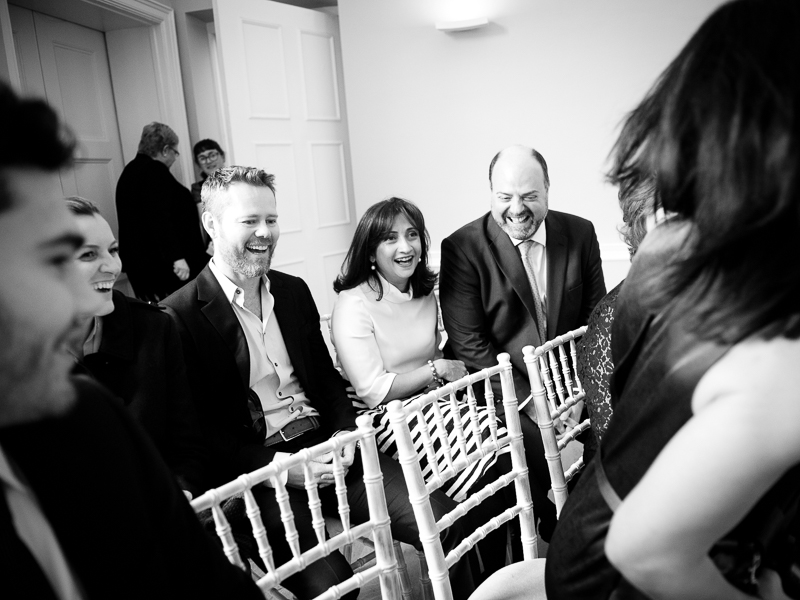 Guests at ceremony at Asia House wedding
