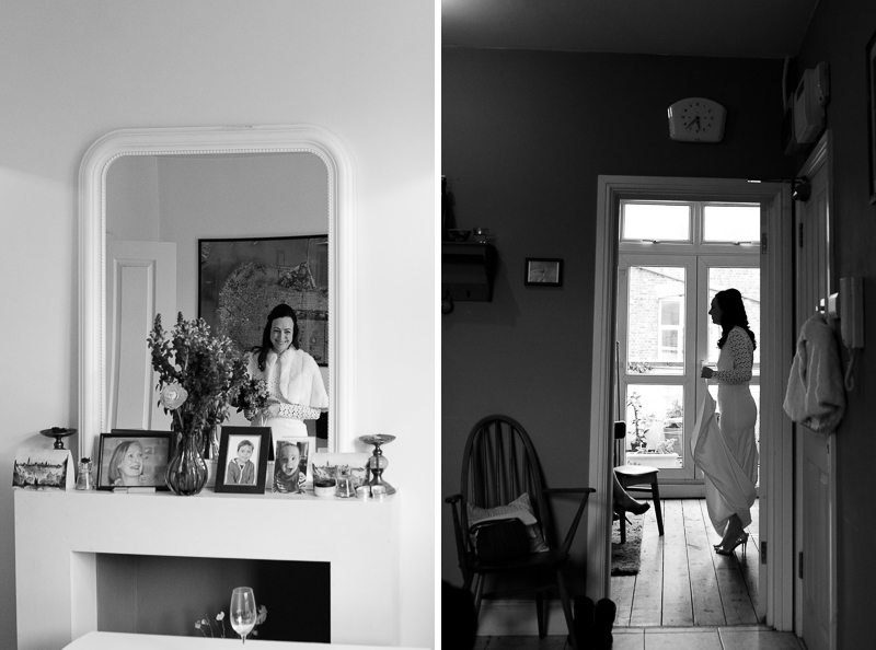 Bride getting ready in Crouch End