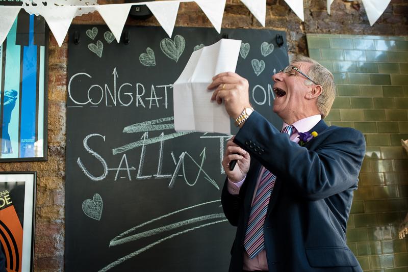 Speeches at Londesborough wedding