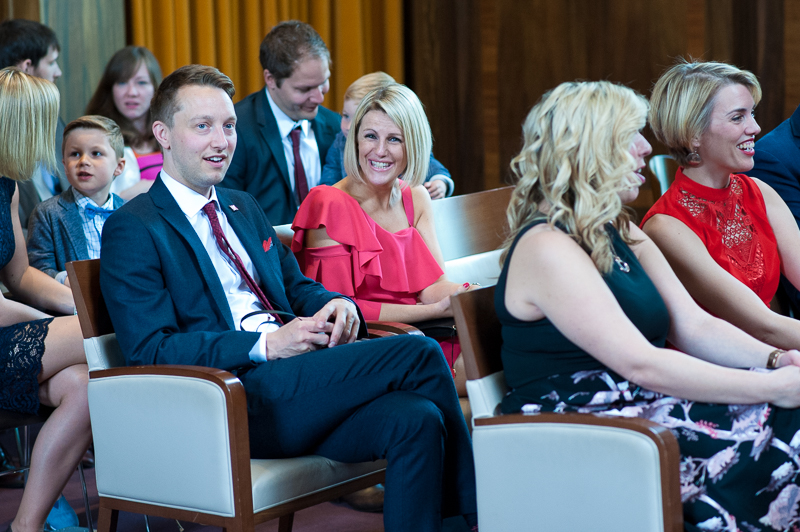 Guests at Stoke Newington Town Hall wedding ceremony