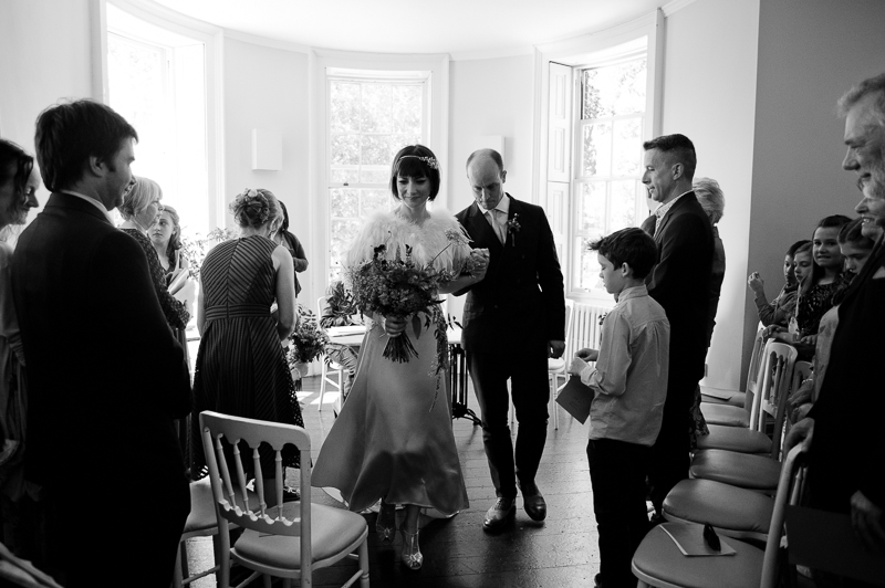 Wedding ceremony at Clissold House Stoke Newington