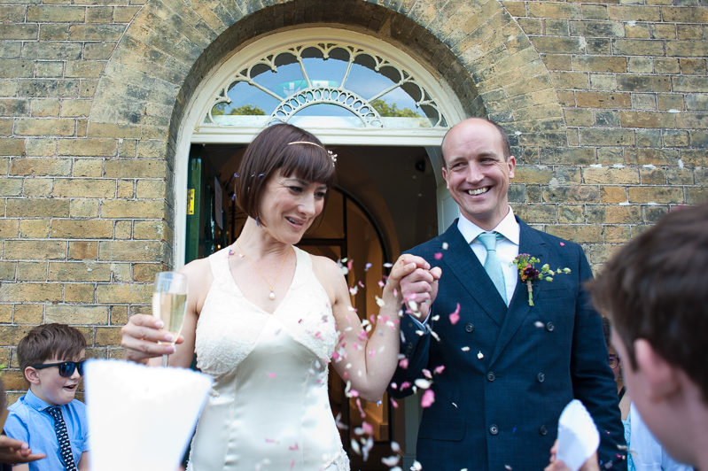 Confetti at Clissold Pakr wedding