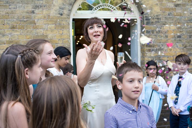 Confetti at Clissold Park wedding