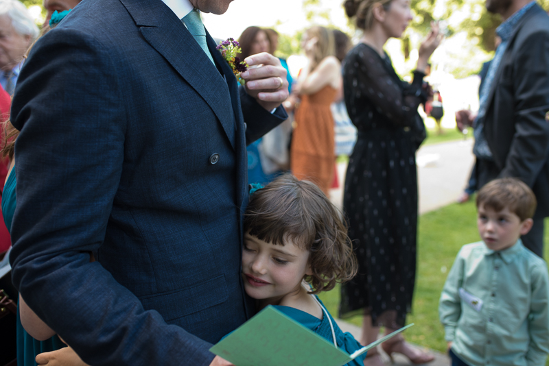 Groom and daughter at Clissold Park