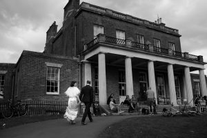 Bride and groom couple portrait Clissold House