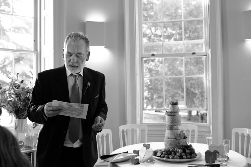 Speeches at Clissold House Wedding