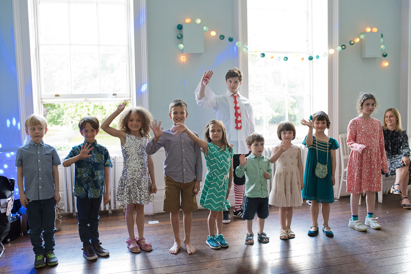 Kids entertainer at Clissold House wedding