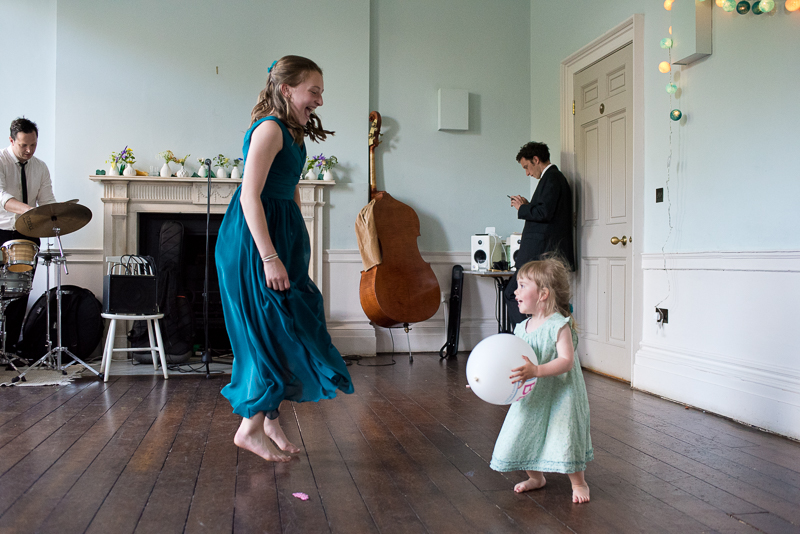 Guests enjoying themselves at Clissold House wedding