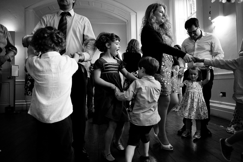 Guests dancing at Clissold House wedding