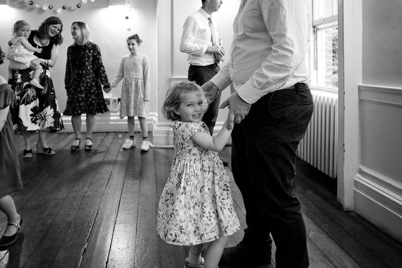 Children on dancefloor at Clissold House wedding