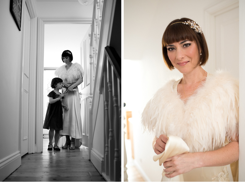 Bridal preparations for Clissold House wedding