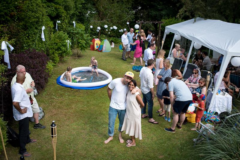 Relaxed garden party wedding