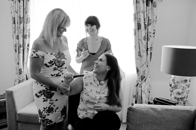 Bridal preparations at Noke Hotel St Albans